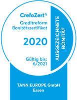 Creditreform Bonitätszertifikat - TANN Europe GmbH